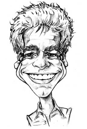 Caricature of Bernie Tennis