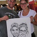 Caricature by Bernie of a Couple