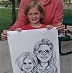 Caricature by Bernie of mother daughter