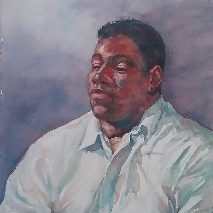portrait of a Man in a white shirt